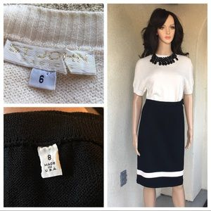 St. John basic sweaters and skirt size 6/8 black/